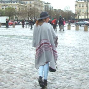 Paris outfit one: cape x fedora
